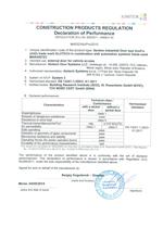 Декларация соответствия Строительным директивам Европейского союза в области безопасности продукции (панорамные ворота AluPro)